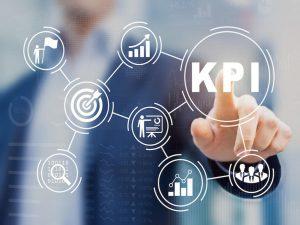 Key Performance Indicator (KPI) using BI metrics, target, success